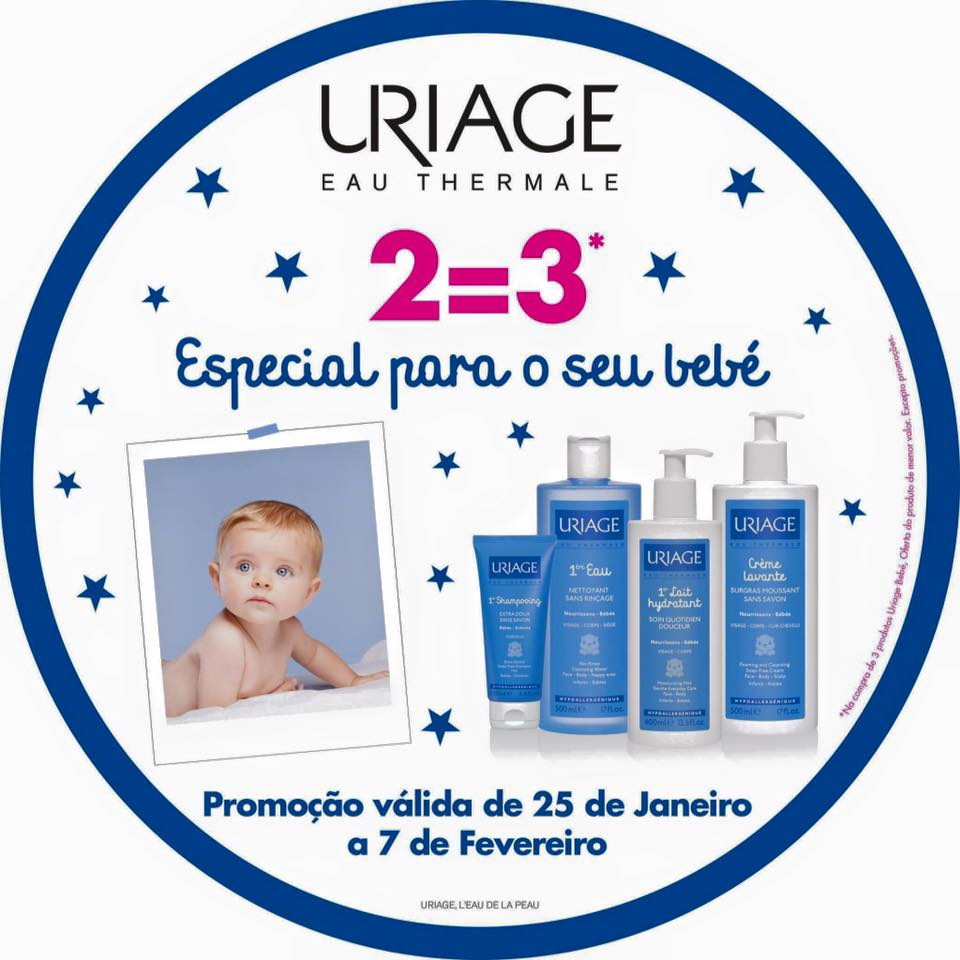 Promoção Uriage Bebé 2=3