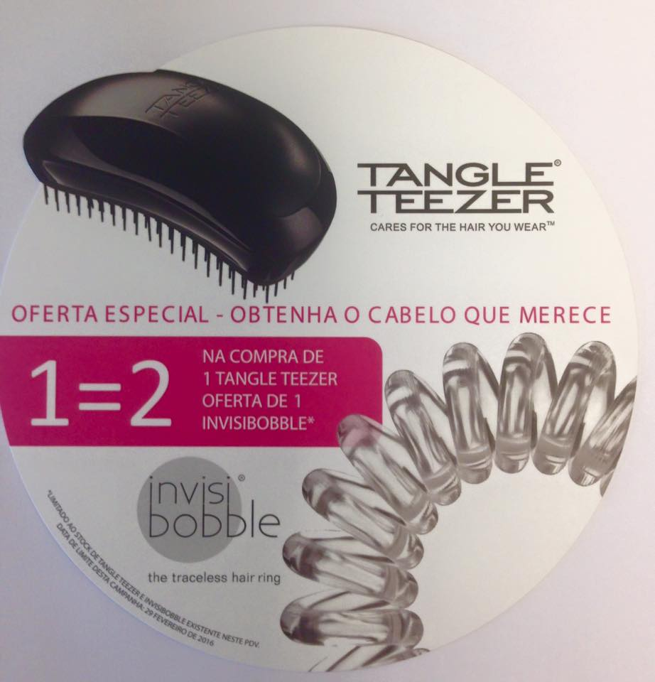 Na Compra de 1 Tangle Teezer oferta de 1 invisibobble