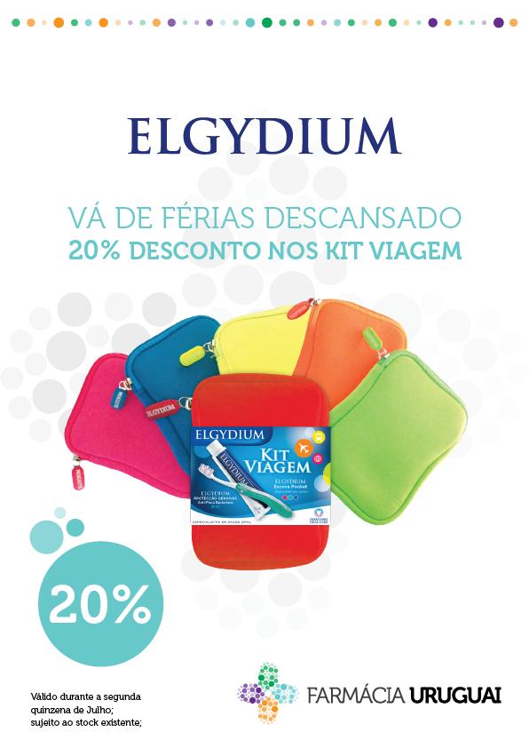 Aproveite os 20% de desconto nos Kit Viagem Elgydium e conheça as novas cores.