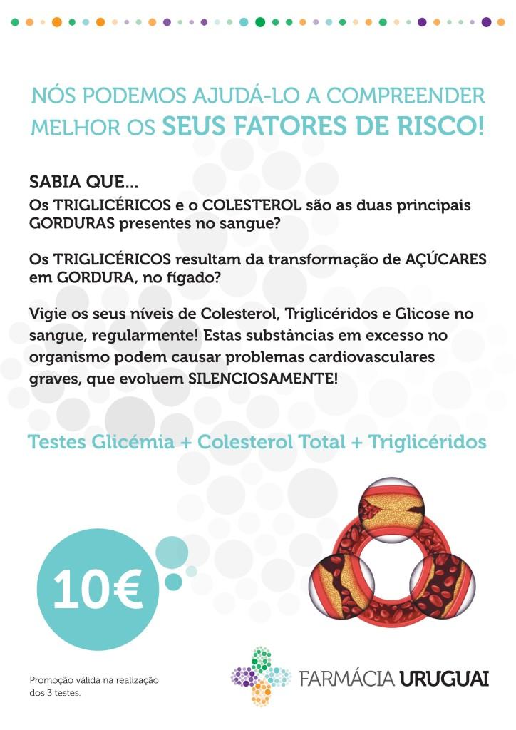 Testes Glicémia + Colesterol Total + Triglicéridos