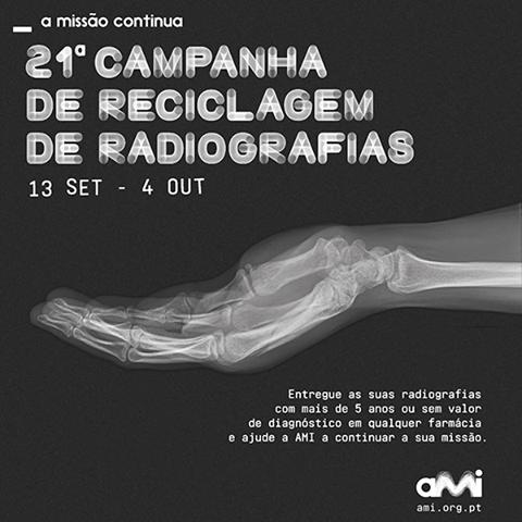 A partir de dia 13 de Setembro entra em vigor a 21ª Campanha de entrega de radiografias. Reúna já as suas radiografias que tenham mais de 5 anos ou que já não necessite e entregue-nos! Esperamos por si!