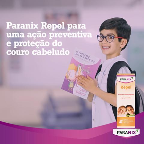 No regresso às aulas proteja o seu filho com Paranix Repel. Um spray prático, para uso diário, com ingredientes que criam uma película protetora, ideal para quando existem surtos de piolhos na escola.