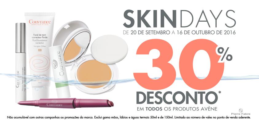 Aproveite os nossos SkinDays para ter o seu ritual de maquilhagem Avène já hoje e poder arrasar no meio dos seus amigos ;) 30% desconto em todos os produtos.