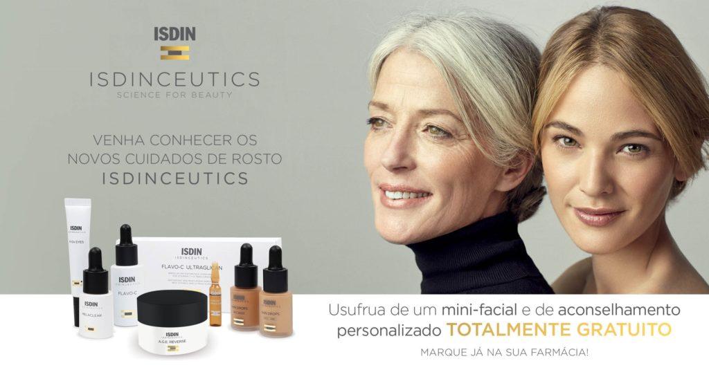 Dia 10 Dezembro 2016 - Venha fazer um mini facial e experimentar os produtos ISDIN associado à Gama ISDINCEUTICS®  Faça a sua marcação ao balcão da Farmácia Uruguai ou pelo Tlf 217111359