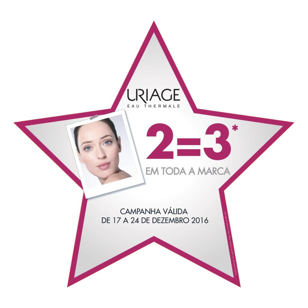 Entre os dias 16 e 24 de Dezembro 2016 aproveite a promoção na marca Uriage 2=3
