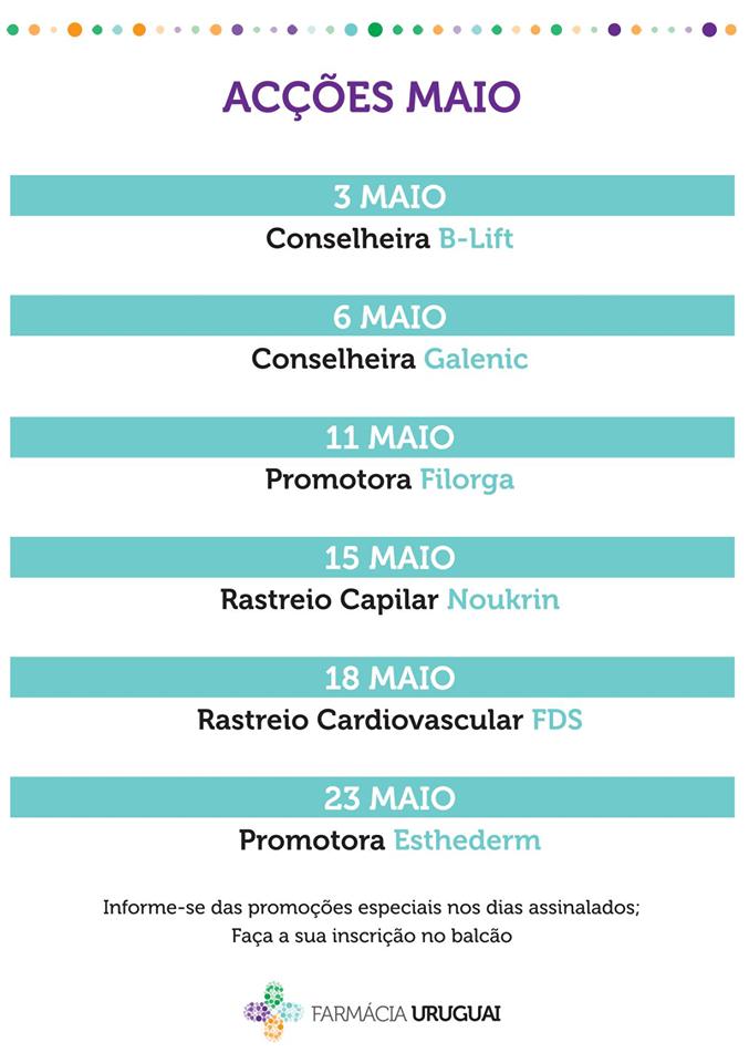 Acções Maio – Farmácia Uruguai