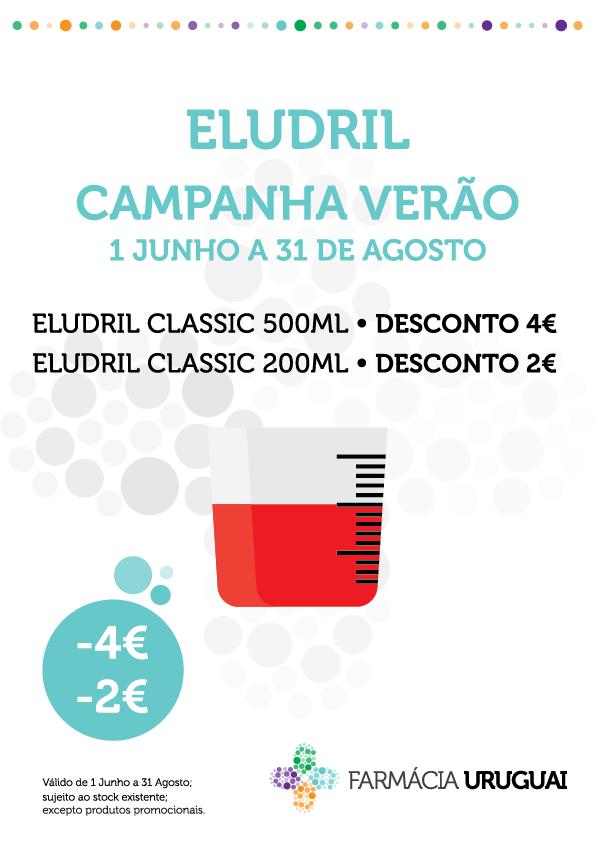 Eludril Classic -2€ de desconto na embalagem de 200ml e 4€ na embalagem de 500ml