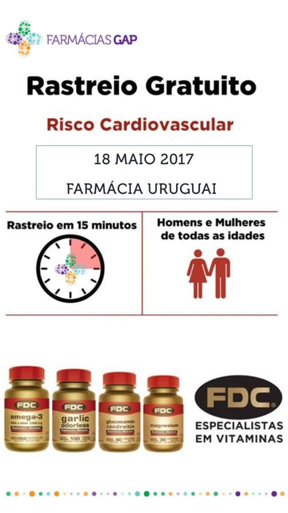 Rastreio Cardio-Vascular FDC – 18 Maio