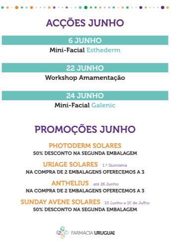 Promoções Junho – Farmácia Uruguai