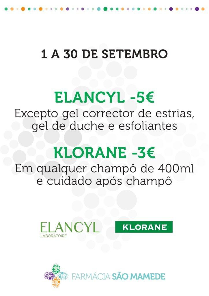 Promoção Elancyl e Klorane