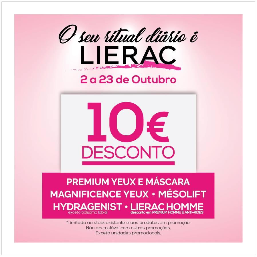 Campanha Lierac –  10€ de desconto