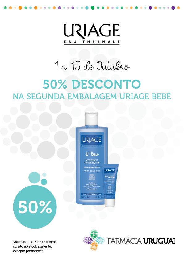 Uriage Bebé – 50% de desconto na compra do segundo produto