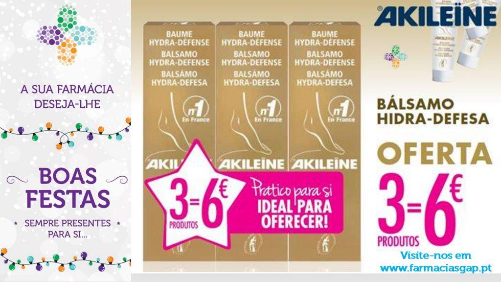 AKILEINE – 3 Bálsamos Hidra-Defesa Gold 30ml pelo preço de 6€.