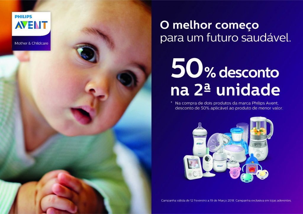 Philips Avent – CAMPANHA 50% de DESCONTO na 2ª unidade