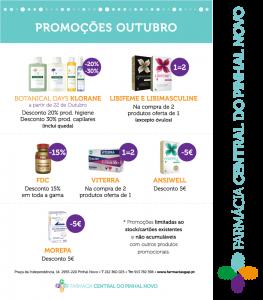 Promoções Outubro Farmácia Central do Pinhal Novo