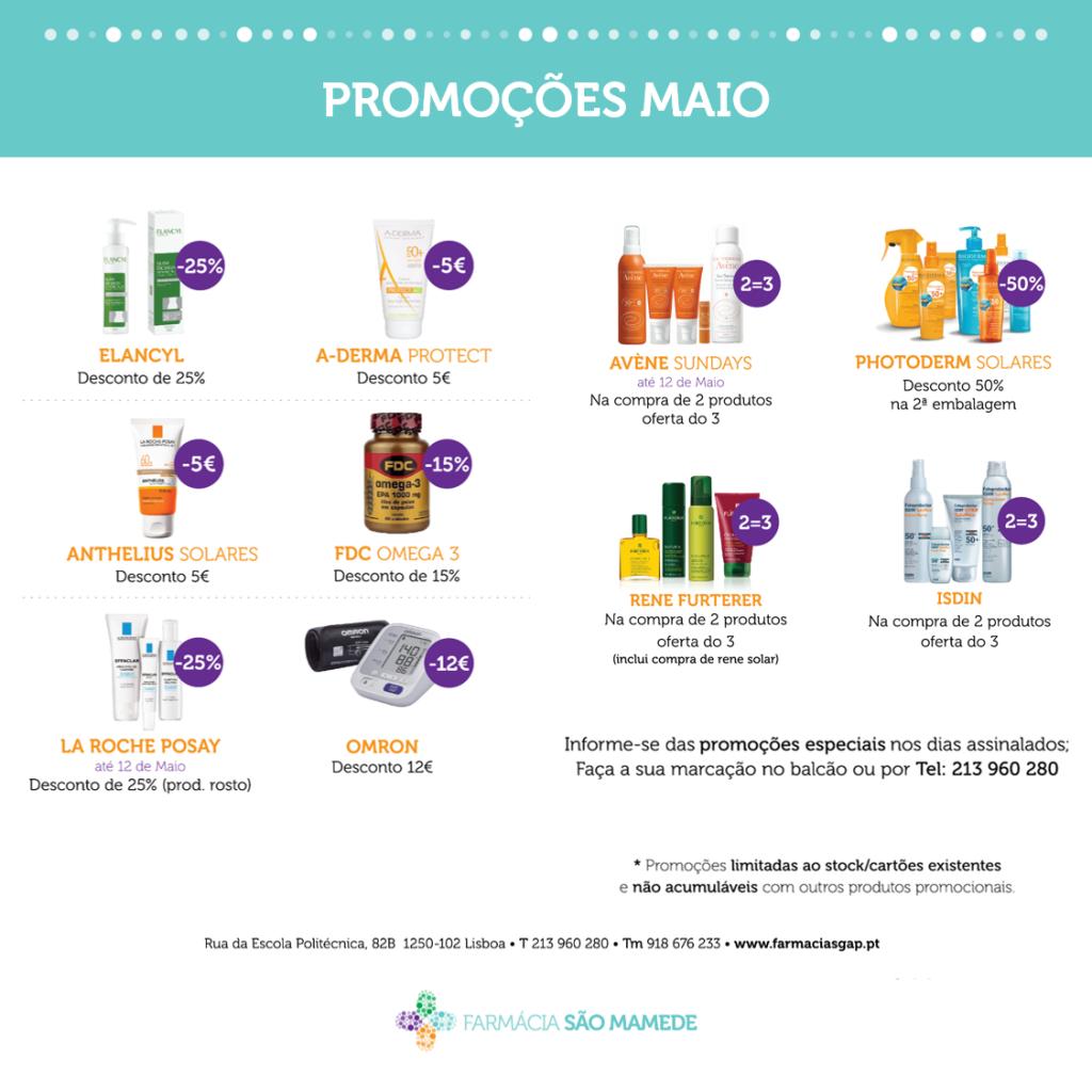 Promoções Maio – Farmácia São Mamede