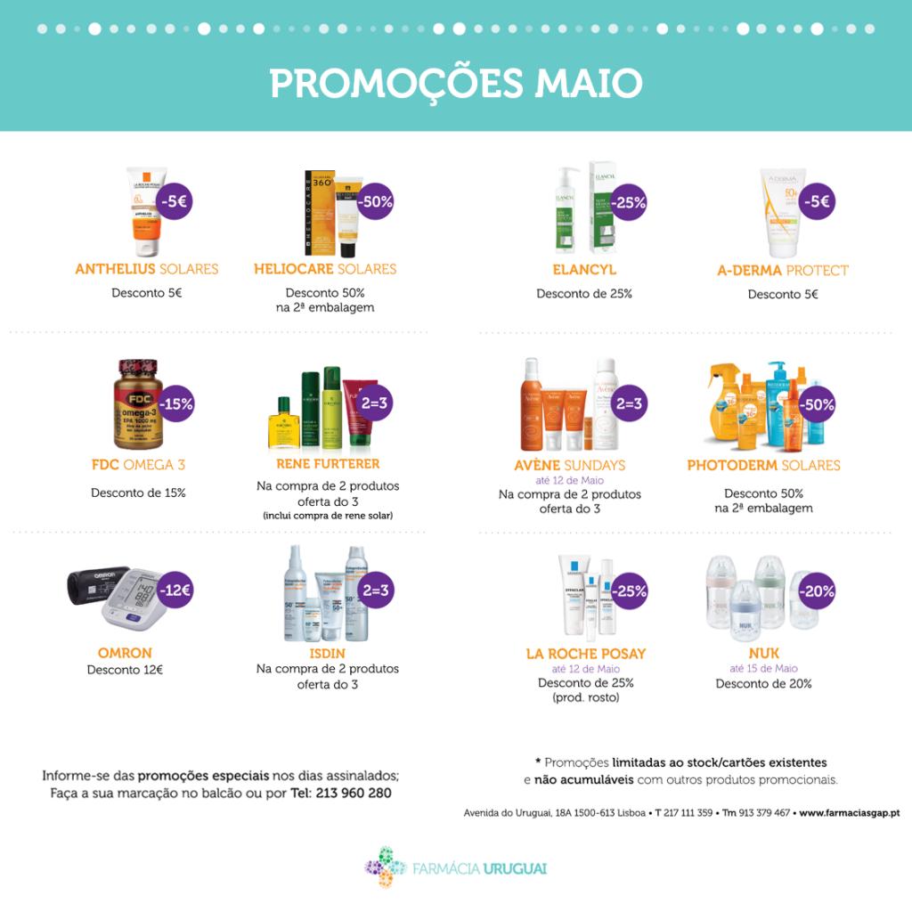 Promoções Maio – Farmácia Uruguai