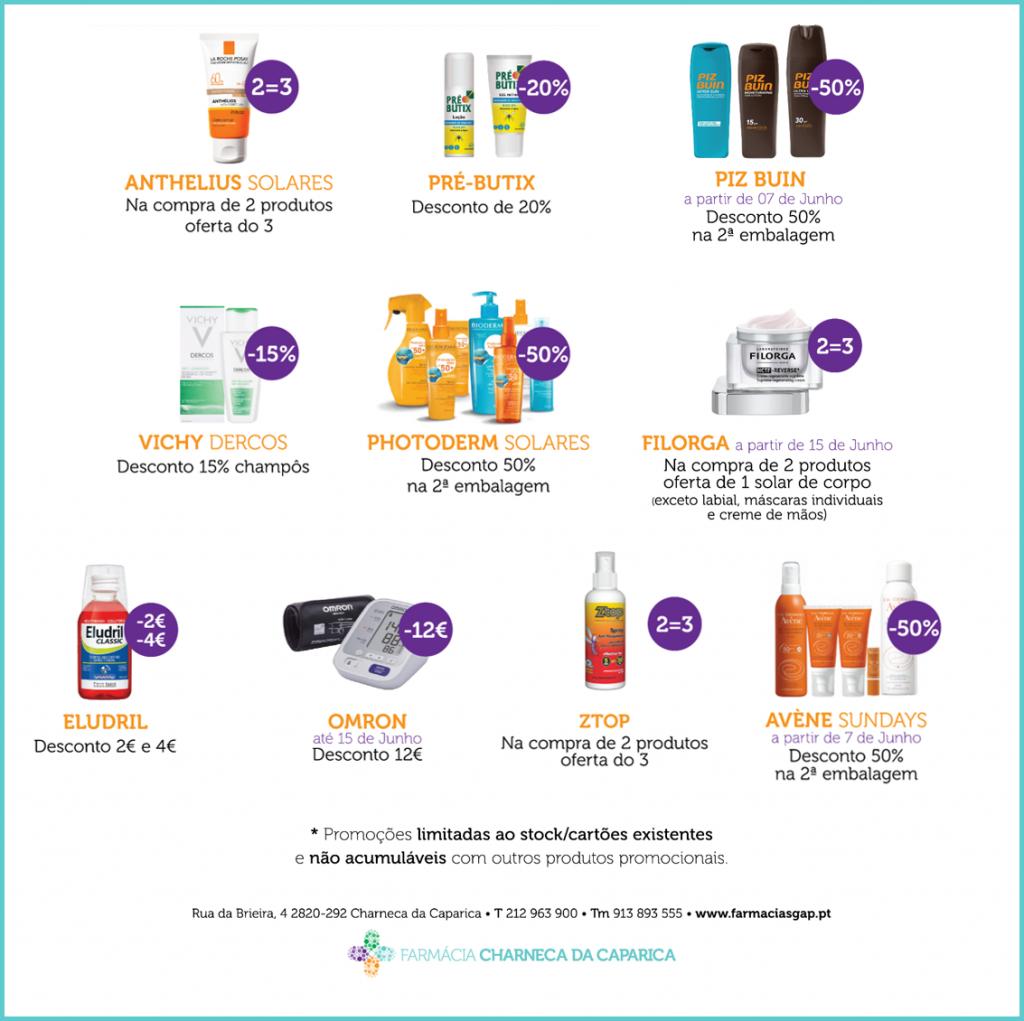 Promoções JUNHO – Farmácia Charneca da Caparica