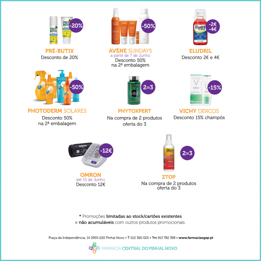 Promoções Junho – Farmácia Central do Pinhal Novo