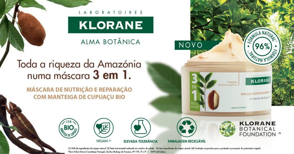 KLORANE – Máscara reparadora com manteiga de Cupuaçu BIO