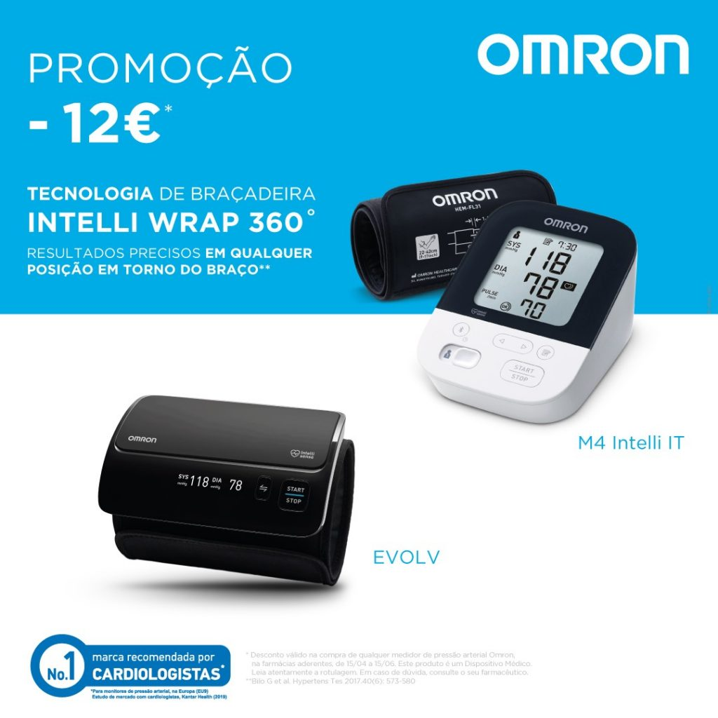 TENSIÓMETROS OMRON – DESCONTO 12€