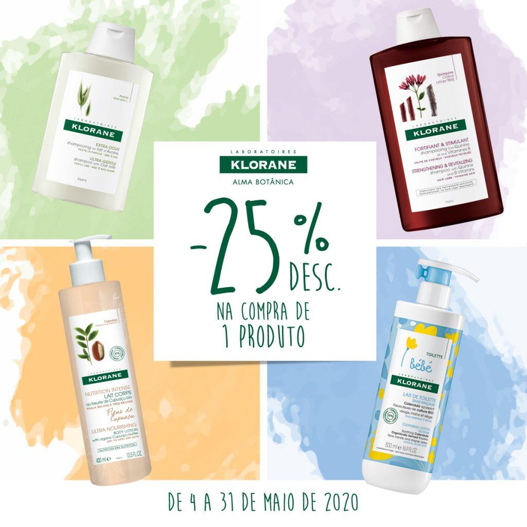 Campanha Klorane 25% de desconto