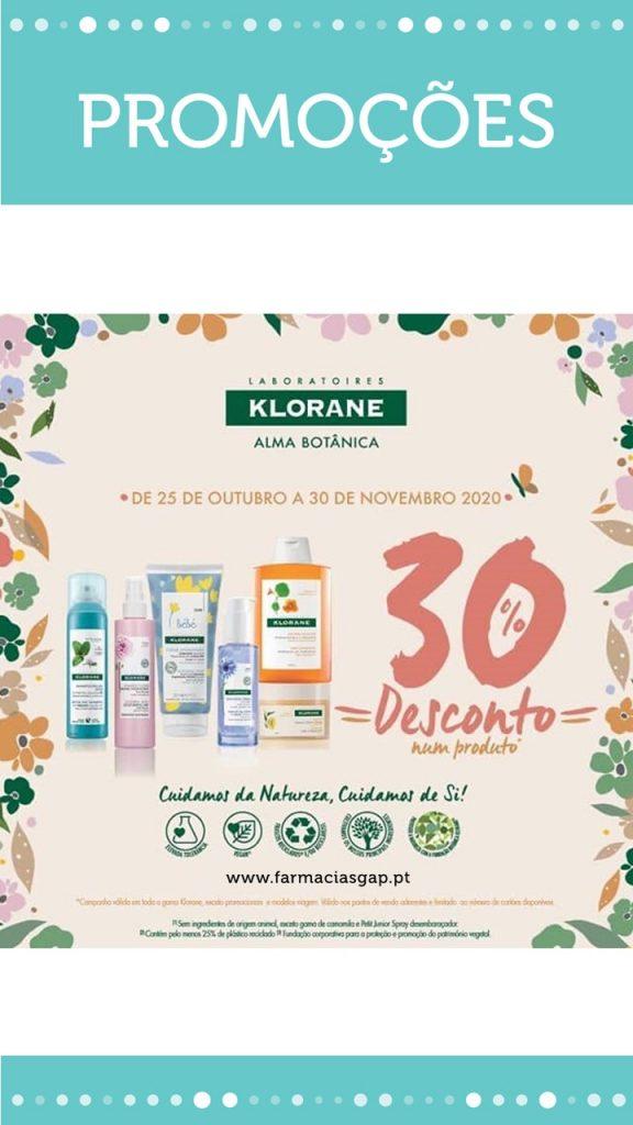 KLORANE  – 30% desconto